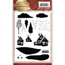 Precious Marieke Clear Stamp Set - Merry and Bright Christmas House