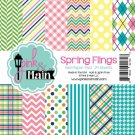 "Pink & Main 6""x6"" Paper Pad - Spring Flings (24 sheets)"