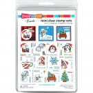 Stampendous Mini Clear Stamp Set - Frans Christmas