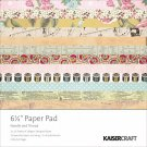 "Kaisercraft 6.5"" x 6.5"" Paper Pad - Needle & Thread (40 sheets)"