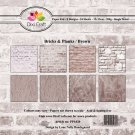 "Dixi Craft 6""x6"" Paper Pack - Bricks & Planks Brown"