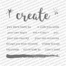 "Paper Rose Studio Clear Stamps - Arty Love Create Words 4""x4"