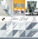 DCWV 12x12 Double-Sided Cardstock Stack - Silver Leaf (36 sheets)