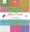 "DCWV Single-Sided 6""x6"" Cardstock Stack - Glitter Pastels Solid (24 sheets)"