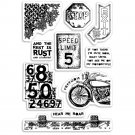 "Ciao Bella Stamping Art 4""x6"" Clear Stamps - Speed Limit"