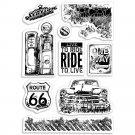 "Ciao Bella Stamping Art 4""x6"" Clear Stamps - Gas Station"