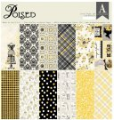 "Authentique 12""x12"" Cardstock Paper Pad - Poised (18 sheets)"