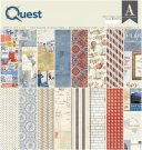 "Authentique 12""x12"" Double-Sided Cardstock Pad - Quest (24 sheets)"