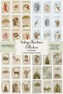 Reprint A4 Paper Pack - Vintage Christmas Cutouts (8 sheets)