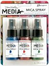 Dina Wakley Mica Sprays - Evergreen, Ruby & Lapis