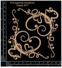 Scrapaholics Laser Cut Chipboard 1.8mm Thick - Heart Corner Flourishes (2 pack)