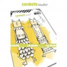 Carabelle Studio A6 Cling Stamp - Kooky Cats