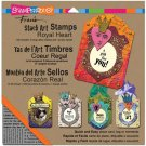 Stampendous Stack Art Cling Stamp Kit - Royal Heart