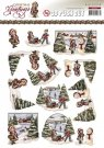 Amy Design 3D A4 Pushout Decoupage Sheet - Christmas Greetings Scenery