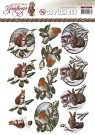 Amy Design 3D A4 Pushout Decoupage Sheet - Christmas Greetings Cute Animals