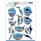 Amy Design 3D Push Outs - Underwater World Big Ocean Animals