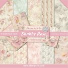 "Stamperia 12""x12"" Double-Sided Paper Pad - Shabby Rose (10 pack)"