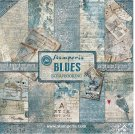 "Stamperia 12""x12"" Double-Sided Paper Pad - Blues (10 pack)"