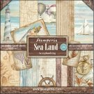 "Stamperia 12""x12"" Double-Sided Paper Pad - Sea Land (10 pack)"