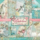 "Stamperia 12""x12"" Double-Sided Paper Pad - Wonderland (10 pack)"