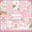 "Stamperia 12""x12"" Double-Sided Paper Pad - Baby Girl (10 pack)"