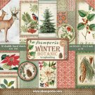 "Stamperia 12""x12"" Double-Sided Paper Pad - Winter Botanic (10 pack)"