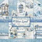 "Stamperia 12""x12"" Double-Sided Paper Pad - Blue Land (10 pack)"