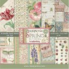 "Stamperia 12""x12"" Double-Sided Paper Pad - Spring Botanic (10 pack)"