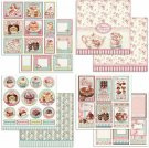 Stamperia 12x12 Cardstock Sheet Set - Sweety Cakes (all 4 sheets)
