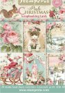 "Stamperia 4.5""x6.5"" Scrapbooking Cards - Pink Christmas (24 pack)"