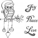 Spellbinders Cling Stamps - Christmas Owl