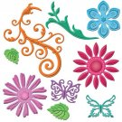 Spellbinders Shapeabilities - Jewel Flowers And Flourishes (9 dies)