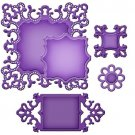 Spellbinders Shapeabilities - Ornate Squares (5 dies)