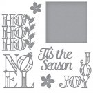 Spellbinders Etched Dies - Holiday Word Blocks Christmas Cascade (8 dies)