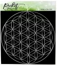 "Picket Fence Studios 6""x6"" Stencil - Flower Of Life"