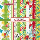"ScrapBerrys 6""x6"" Paper Pack - Football Star (12 sheets)"