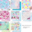 "Scrapberrys 12""x12"" Paper Set - Floral Embroidery (8 sheets)"