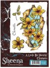 Sheena Douglass A Little Bit Sketchy A6 Unmounted Rubber Stamp - Clematis