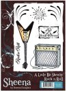 A Little Bit Sketchy Stamp Set - Rock n Roll by Sheena Douglass
