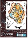 Sheena Douglass A Little Bit Sketchy A6 Unmounted Rubber Stamp - Hands of Time