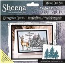 Sheena Douglass Perfect Partner Scenic Winter Dies - Evergreen Trees