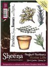 Sheena Douglass Perfect Partners Home Life A6 Unmounted Rubber Stamps - Herb Garden