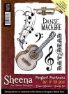 Sheena Douglass Perfect Partners Day of the Dead A6 Unmounted Rubber Stamp - Danse Macabre