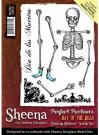 Sheena Douglass Perfect Partners Day of the Dead A6 Unmounted Rubber Stamp - Dancing Skeleton