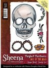 Sheena Douglass Perfect Partners Day of the Dead A6 Unmounted Rubber Stamp - Sugar Skull