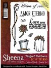 Sheena Douglass Perfect Partners Day of the Dead A6 Unmounted Rubber Stamp - Union of Soul