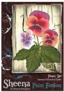 Sheena Douglass Sheena Douglass Paint Fusion A6 Unmounted Rubber Stamp - Pansy Set