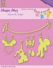 Nellies Choice Shape Die - Lene Baby Build-up Clothesline