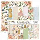 "Scrapboys 12""x12"" Paper Set - Sewing Love (12 sheets+cut out elements)"