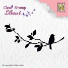 Nellies Choice Clearstamp - Silhouette Birdsong #1